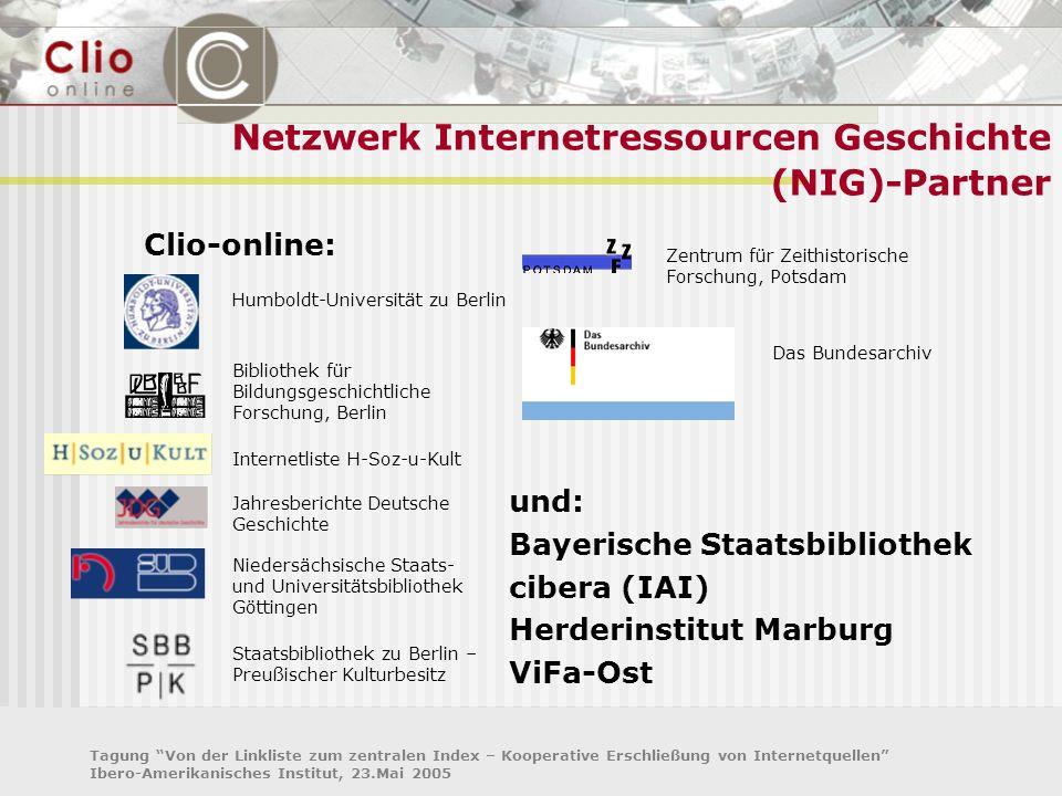 Tagung Von der Linkliste zum zentralen Index – Kooperative Erschließung von Internetquellen Ibero-Amerikanisches Institut, 23.Mai 2005 Netzwerk Intern