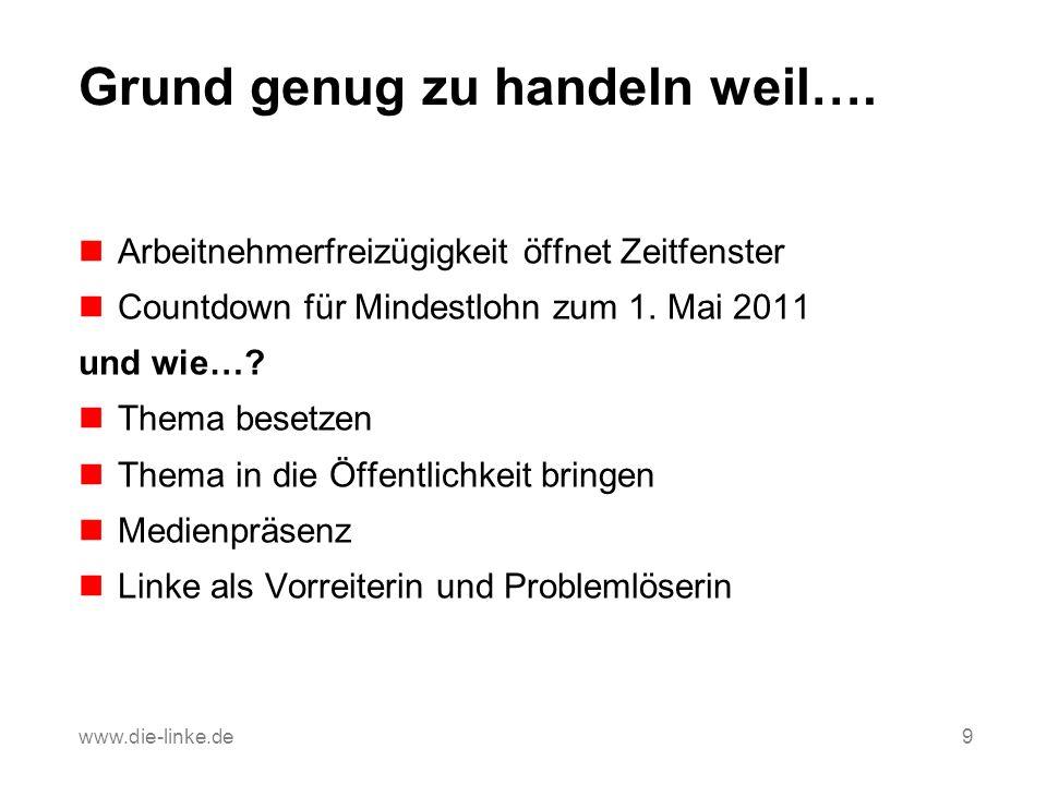 Countdown für den Mindestlohn März 2011: Pressekonferenz mit Vorstellung der Broschüre Tatort Mindestlohn 8.