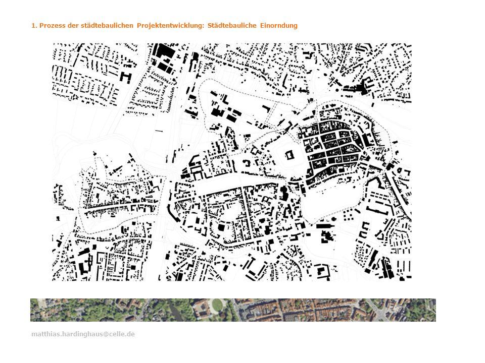 1. Prozess der städtebaulichen Projektentwicklung: Städtebauliche Einorndung matthias.hardinghaus@celle.de