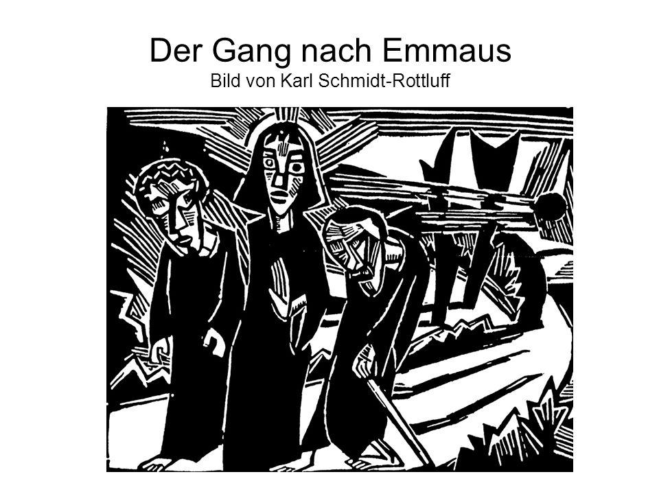 Der Gang nach Emmaus Bild von Karl Schmidt-Rottluff