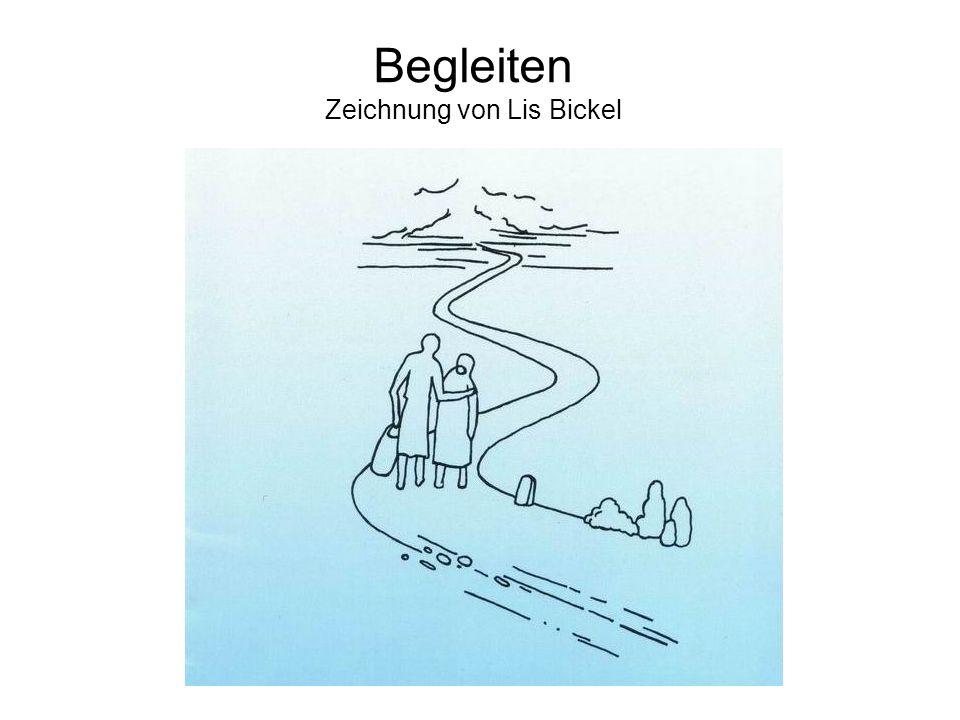 Begleiten Zeichnung von Lis Bickel
