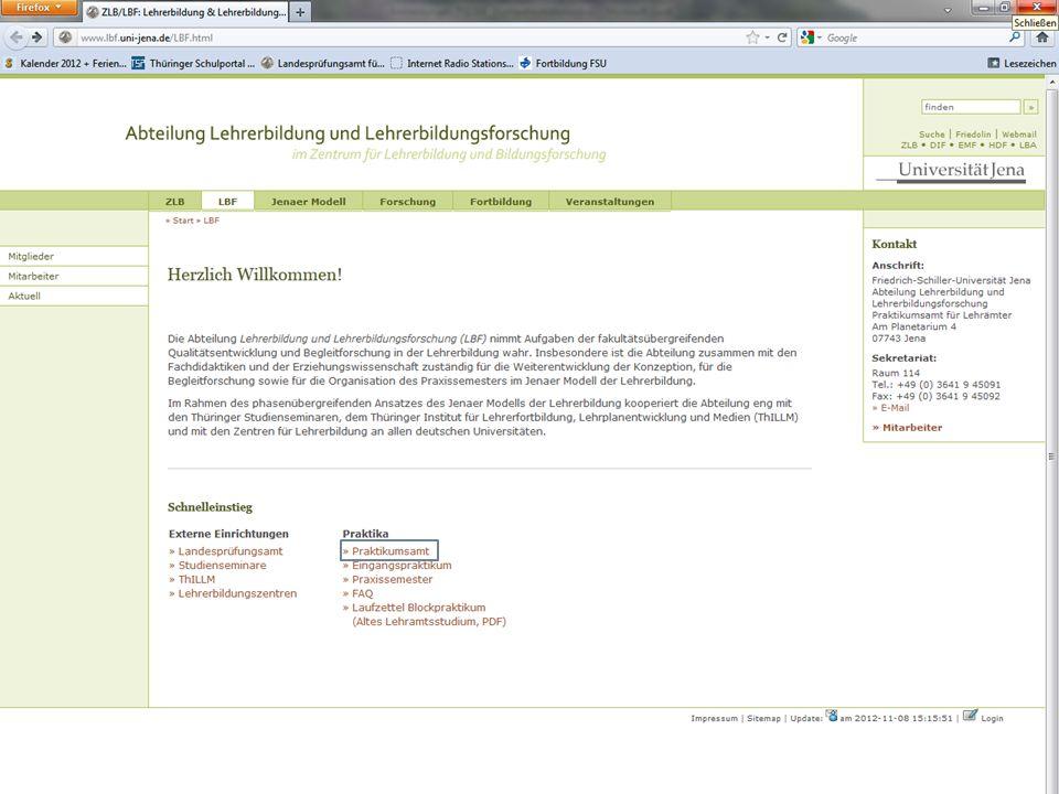 Einführungswoche 16.01.2013 | Informationsveranstaltung | www.uni-jena.de/ZLB.html 8