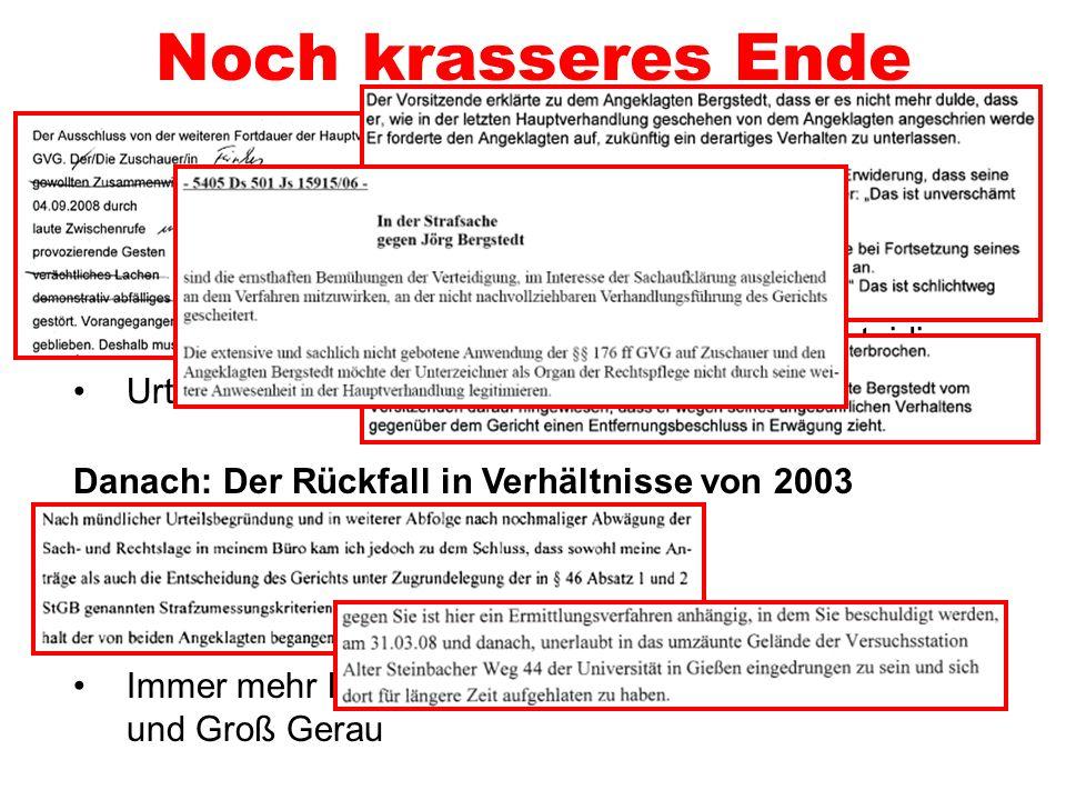 Krasser Prozessverlauf 1. Tag Unsicherheiten bei der Einsatzpolizei Falschaussage von Staatsschützer Schöller Publikumsbeschimpfungen light Und dann a