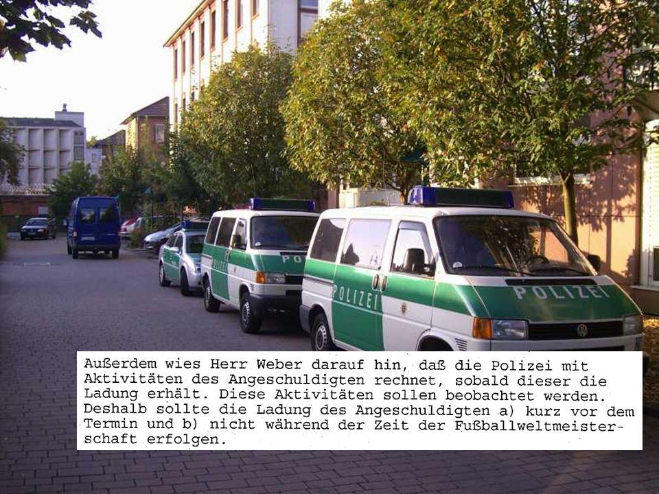 Gerichtete Justiz 2. Juli 2003: Fuck the police 15.12.2003: 2 Angeklagte und 13 Anklagepunkte … … darunter einige seltsame Vorwürfe, z.B. der Fall Gül