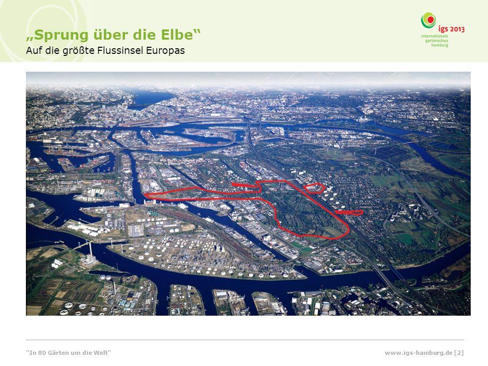 Auf die größte Flussinsel Europas Sprung über die Elbe