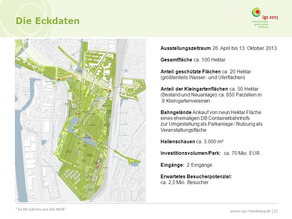 Die Eckdaten Ausstellungszeitraum 26. April bis 13. Oktober 2013 Gesamtfläche ca. 100 Hektar Anteil geschützte Flächen ca. 20 Hektar (größtenteils Was