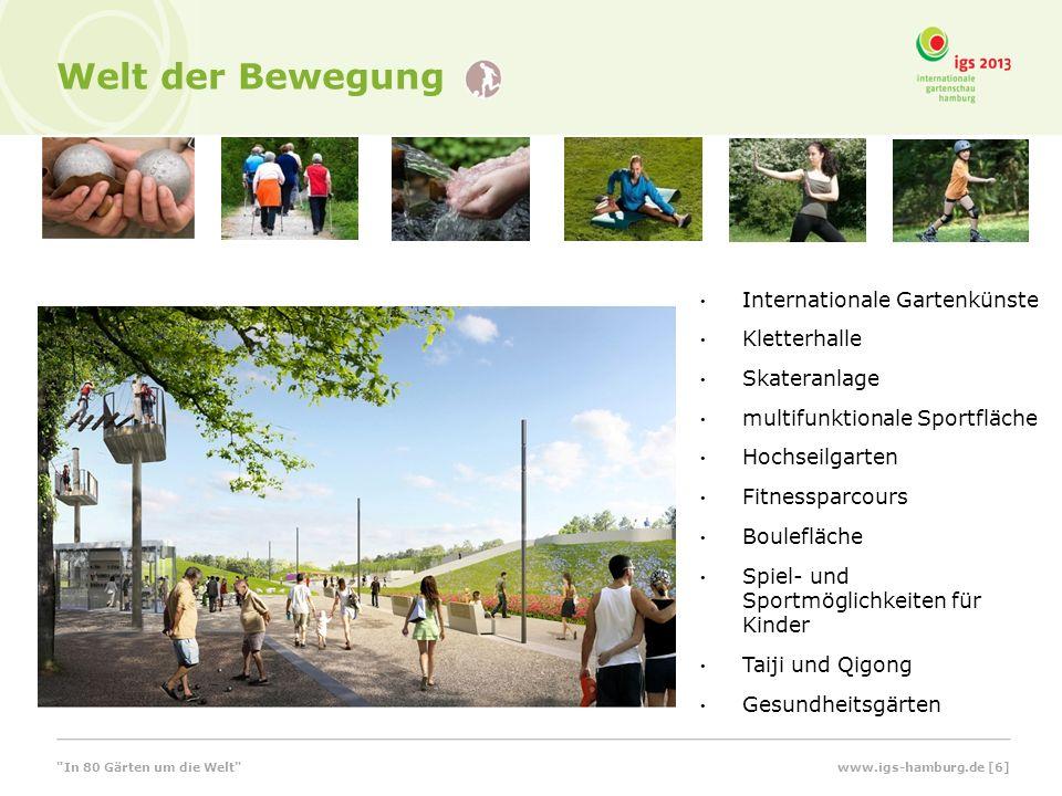 Welt der Bewegung Kletterhalle Schwimmhalle Internationale Gartenkünste Kletterhalle Skateranlage multifunktionale Sportfläche Hochseilgarten Fitnessp