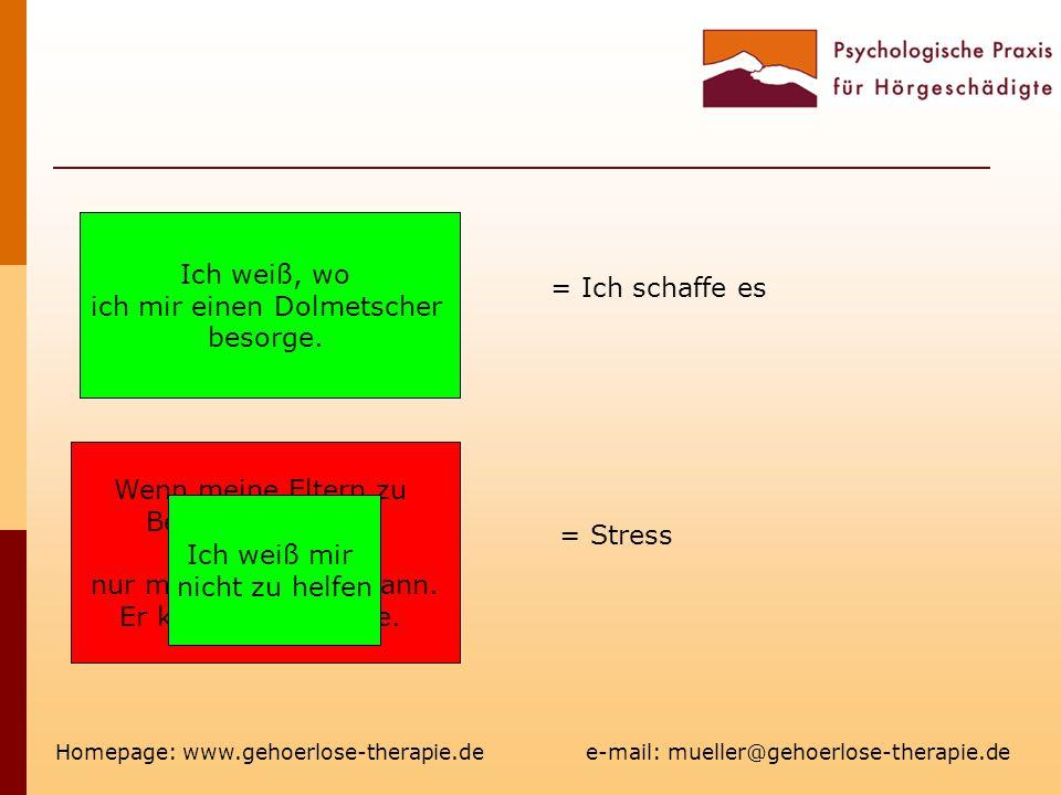 Homepage: www.gehoerlose-therapie.de e-mail: mueller@gehoerlose-therapie.de Bei Teambesprechungen verstehe ich nichts Wenn meine Eltern zu Besuch kommen, reden sie nur mit meinem hg Mann.