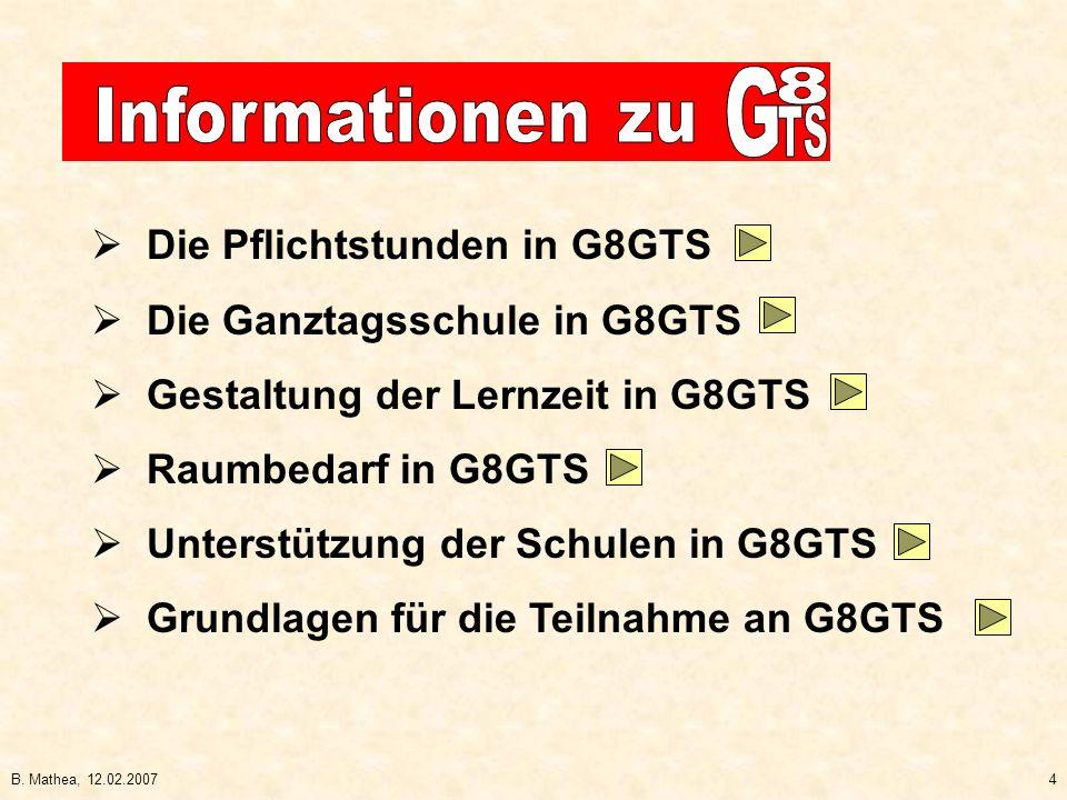 B. Mathea, 12.02.20075 Die Pflichtstunden in G9 und in G8GTS