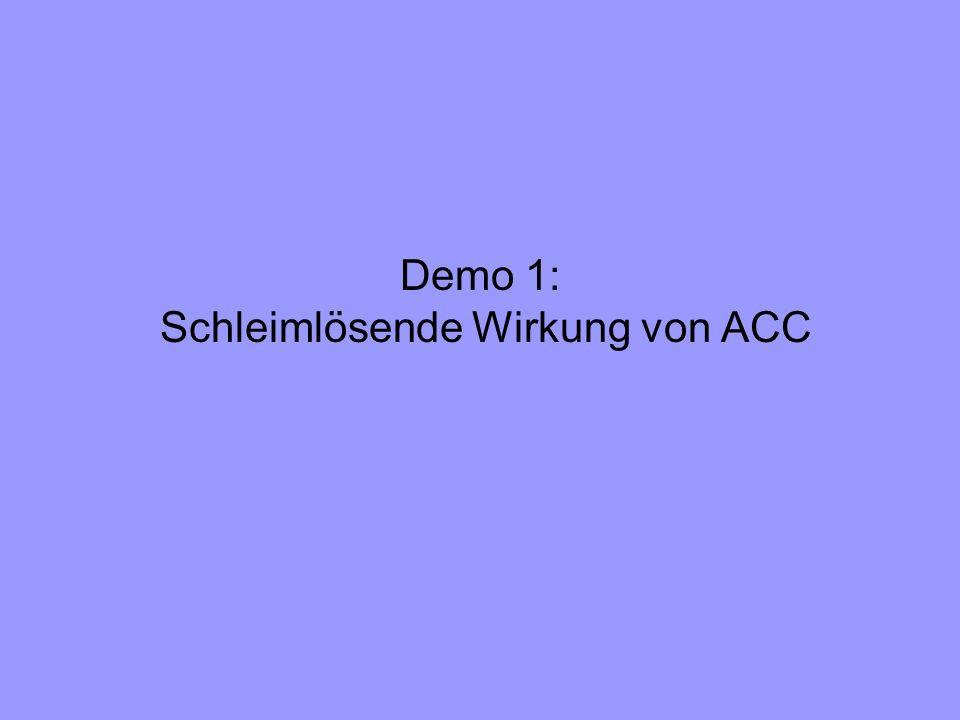 Demo 1: Schleimlösende Wirkung von ACC