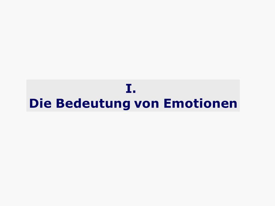 I. Die Bedeutung von Emotionen