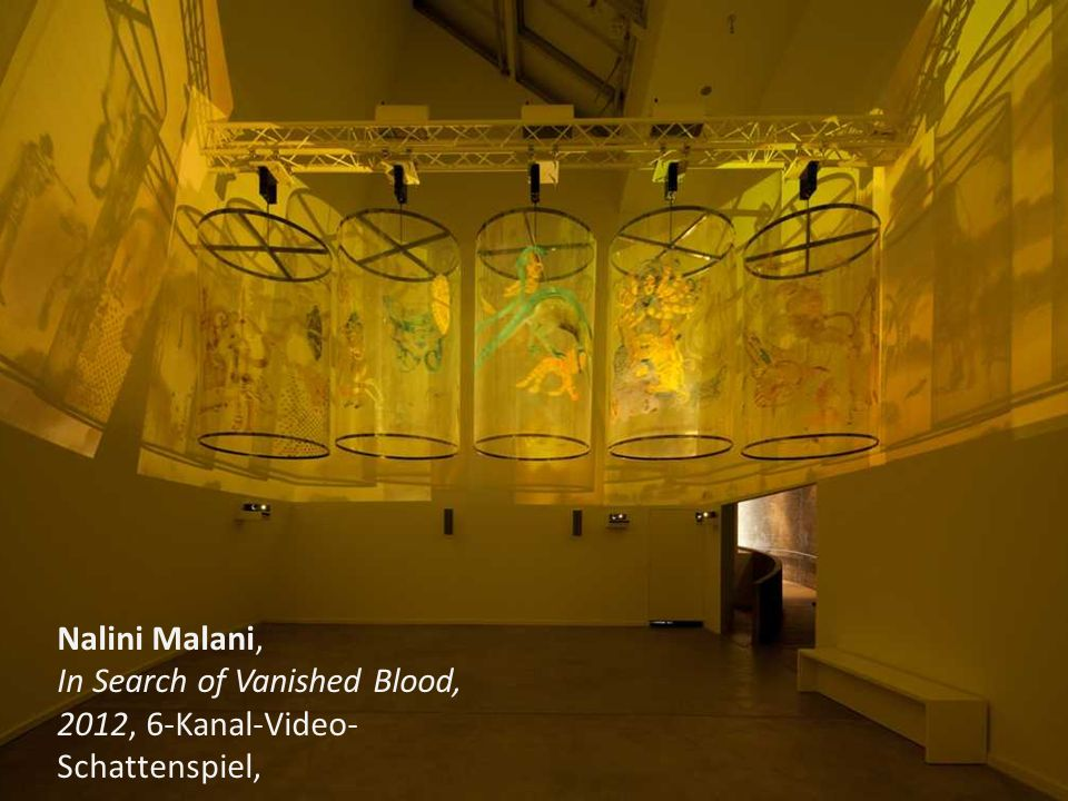 Nalini Malani, In Search of Vanished Blood, 2012, 6-Kanal-Video- Schattenspiel,