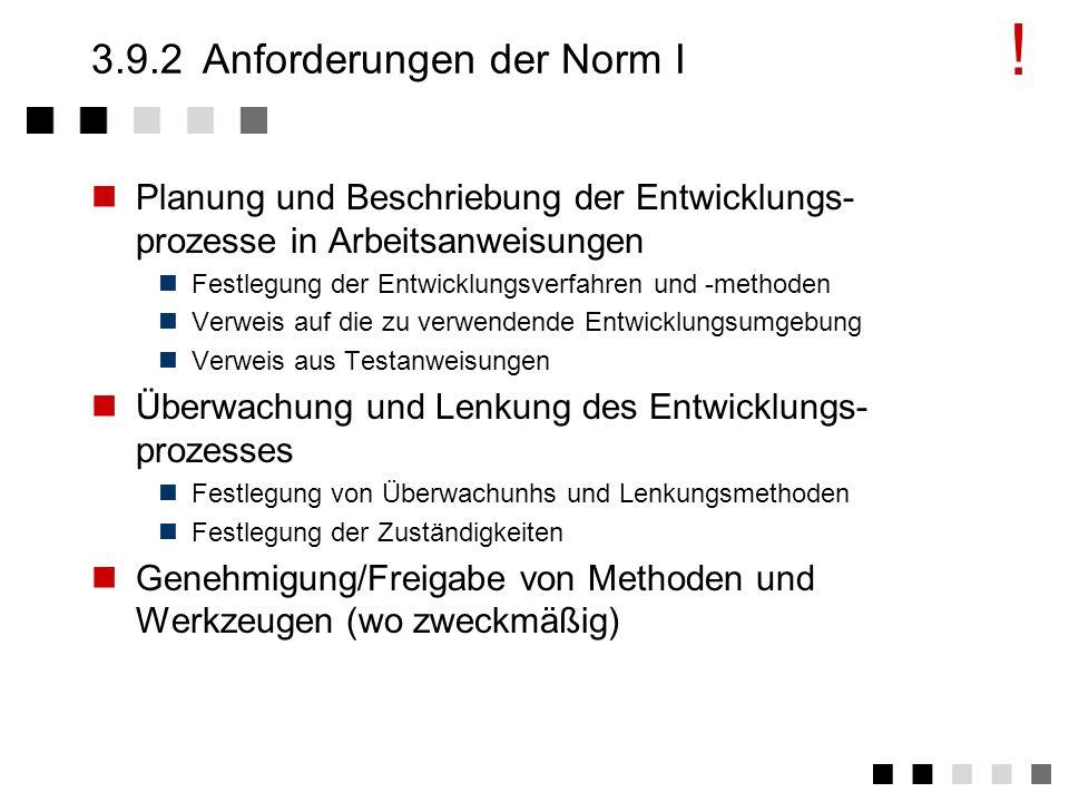 3.9.1Ziel und Inhalt Die erforderlichen Entwicklungsumgebungen sollen zuverlässig verfügbar gehalten werden. Beschreibung von Vorgehensweisen, die sic