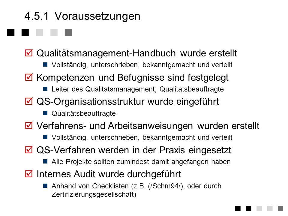 4.5Zertifizierung Voraussetzungen Die Auditoren Phasen Das Audir - Vorgang Das Audir - Fragen Was kommt danach