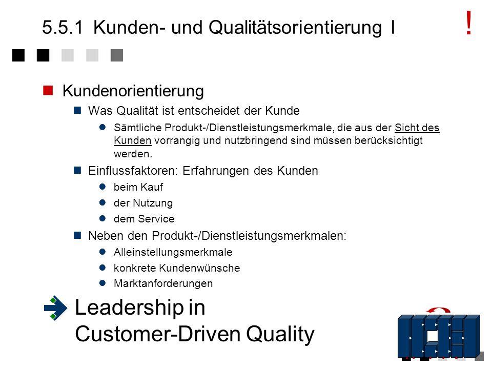 5.5Die Elemente eines TQM-Systems Führung - Kunden- orientiert, - qualitäts- orientiert Qualitäts- - Politik - Strategie - Ziele Res- sourcen Manage-