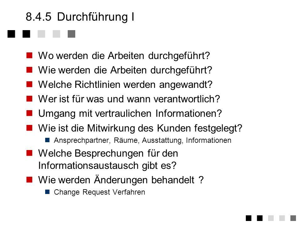 8.4.4Leistungs/Lieferumfang II Was wird geliefert? Wie wird der Gegenstand, in welcher Form, wie oft geliefert? Was ist im Lieferumfang nicht enthalte