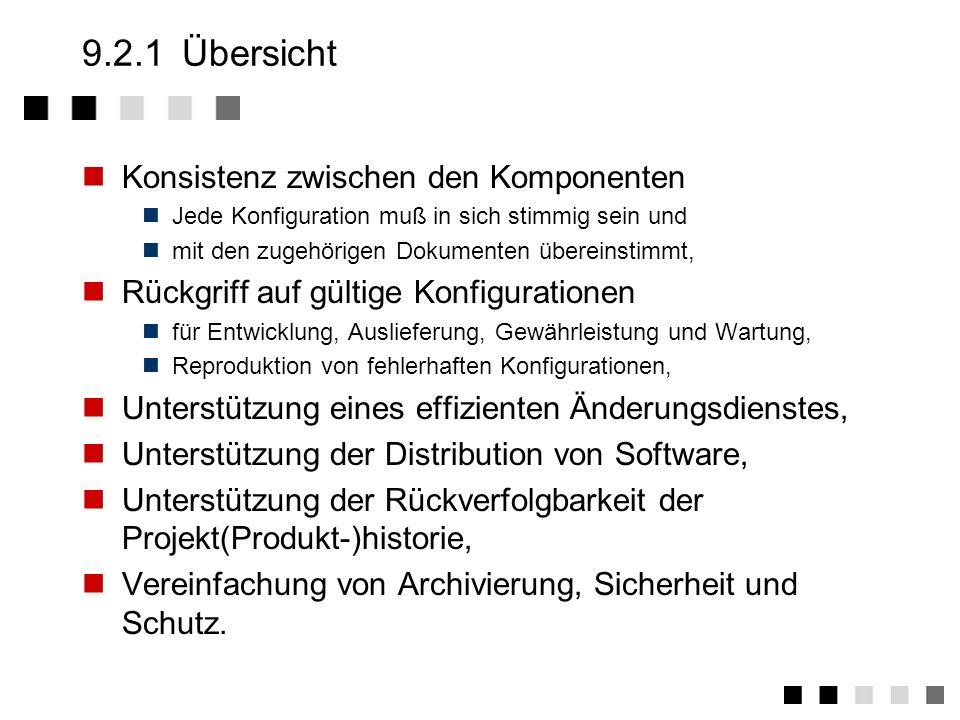 9.2Aufgaben Übersicht Begriffe Elemente Beispiel Speicherung Komponentenattribure Ressourcenverwaltung Verwaltung Defect Tracking !
