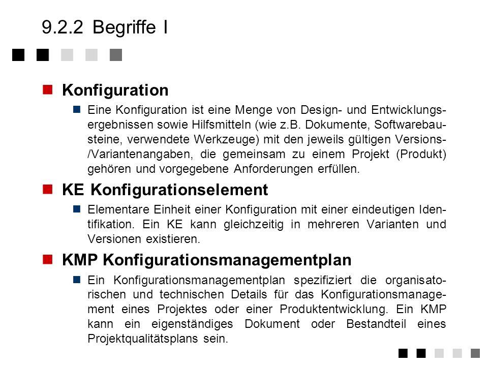 9.2.1Übersicht Konsistenz zwischen den Komponenten Jede Konfiguration muß in sich stimmig sein und mit den zugehörigen Dokumenten übereinstimmt, Rückg
