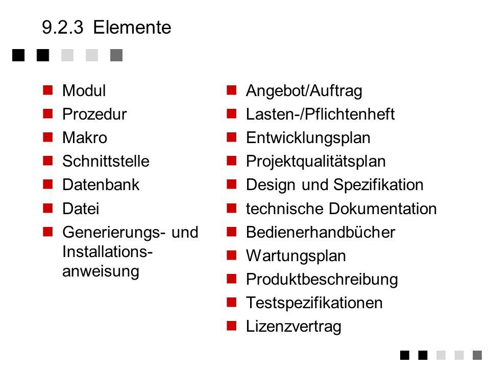 9.2.2Begriffe II Konfigurationsliste Die Konfigurationsliste beinhaltet eine Konfiguration mit ihren zugehörigen Elementen (mit Version, Variante, Zus