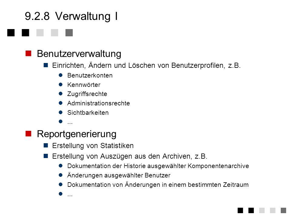 9.2.7Resourceverwaltung Auflösung von Benutzungskonflikten Unterscheidung von exklusiven und nicht exklusiven Benutzung Dokumentation von Zugriffen S1
