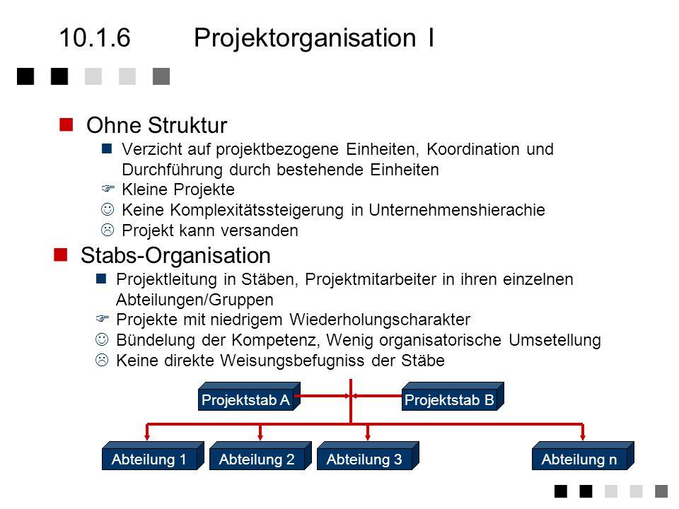 10.1.5Projektplanungsinstrumente II Vorgangs- liste Netz plan PERT -V