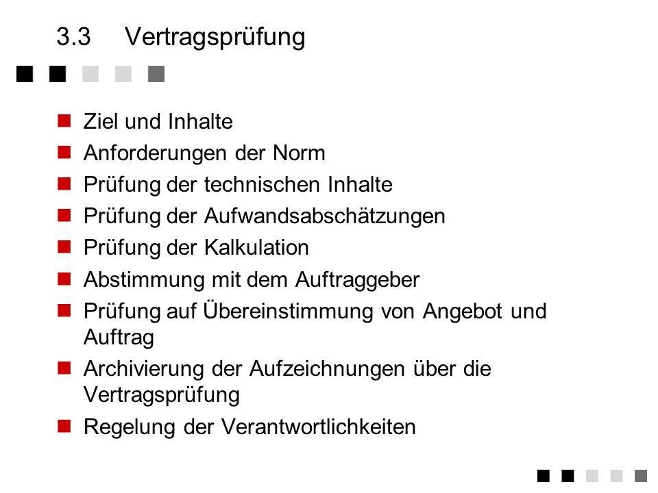3.2.5Beispiel: Beschreibungen im Projekthandbuch... Projektstart Ernennung des Projektleiters Analyse der vertragsrelevanten Dokumente Anlegen der Pro