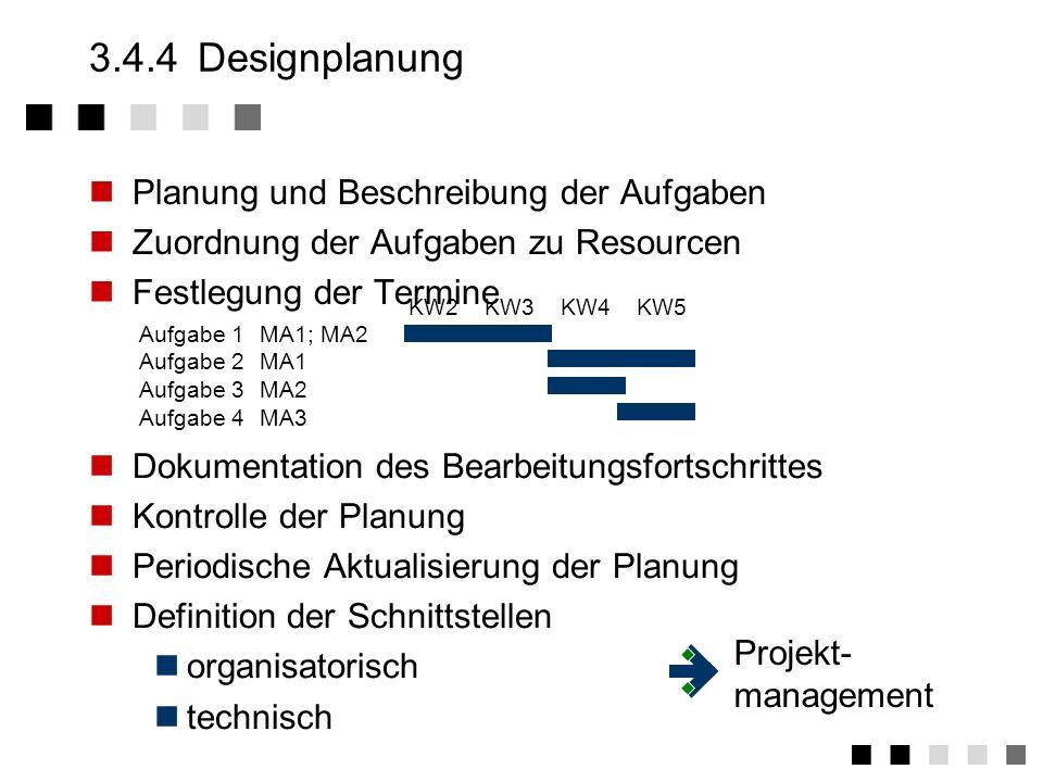 3.4.3Designvorgaben Vorgaben in Pflichtenheften (oder vergleichbaren Dokumenten) Inhalt des Pflichtenheft beschreibt die verbindlichen Leistungen des