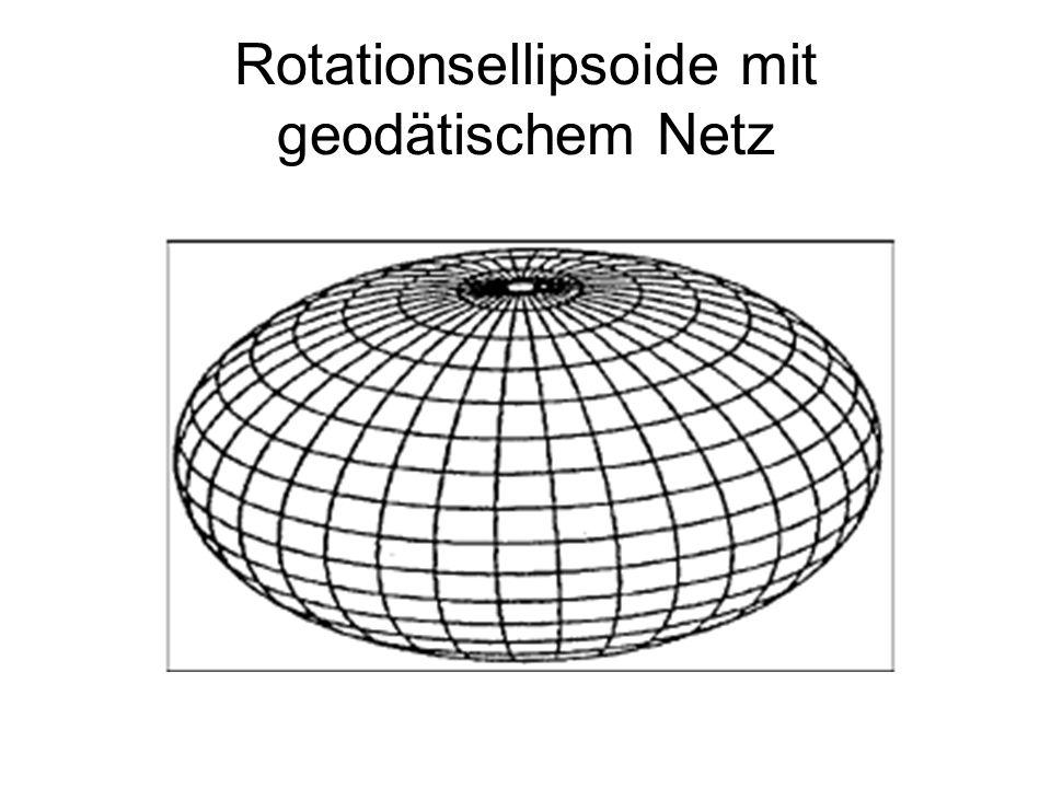 Rotationsellipsoide mit geodätischem Netz