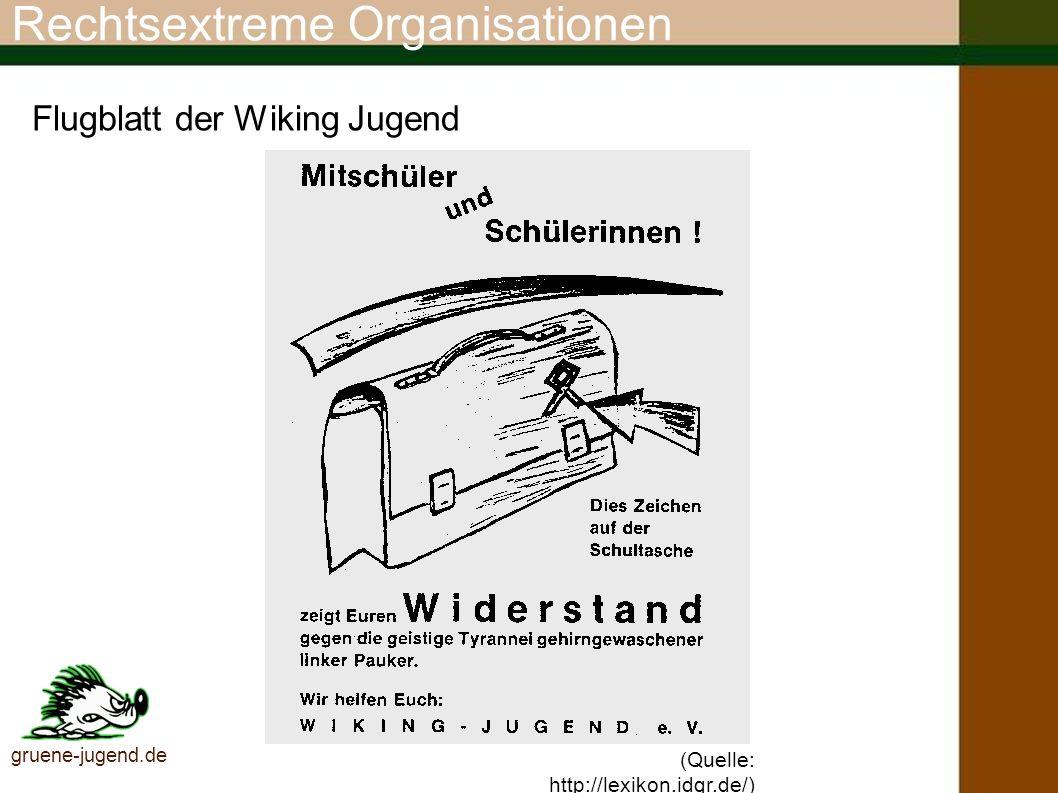 Rechtsextreme Organisationen Skinheads Sächsische Schweiz (SSS) Mit die bekannteste Rechtsextreme Vereinigung, die 1997 aus der verbotenen Wiking-Jugend und NPD-FunktionärInnen gegründet wurde.