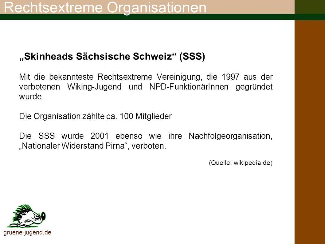 Rechtsextreme Organisationen Blood & Honour (deutsch: Blut und Ehre) Schon der Name hat eindeutigen NS-Bezug.