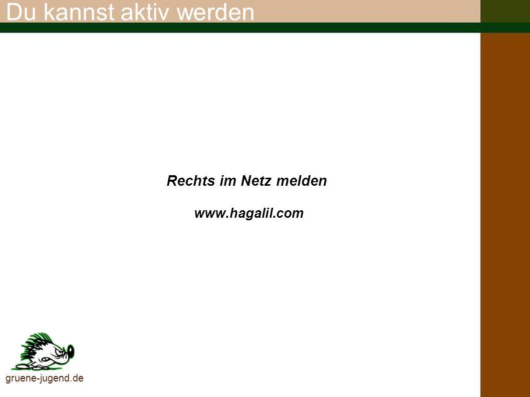 Aktiv grün Ständig aktulle Infos zur Bildungsoffensive der GRÜNEN JUGEND gegen Rechtsextremismus unter www.gruene-jugend.de gruene-jugend.de