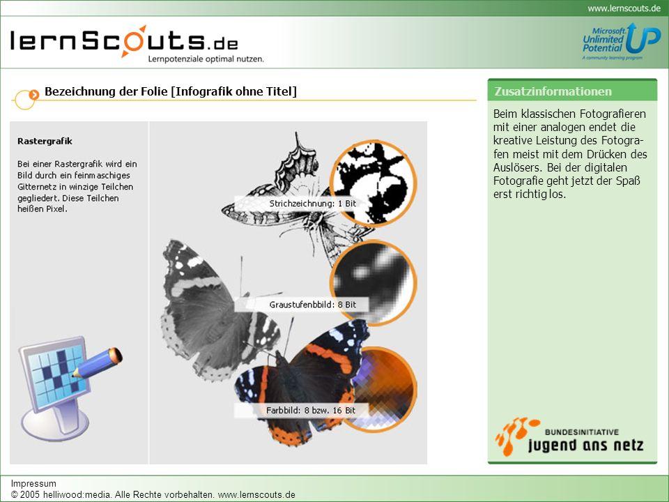 Bezeichnung der Folie [Infografik ohne Titel] Zusatzinformationen Impressum © 2005 helliwood:media.
