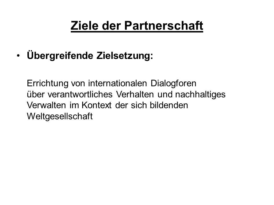 Ziele der Partnerschaft Weitere Ziele: 1.