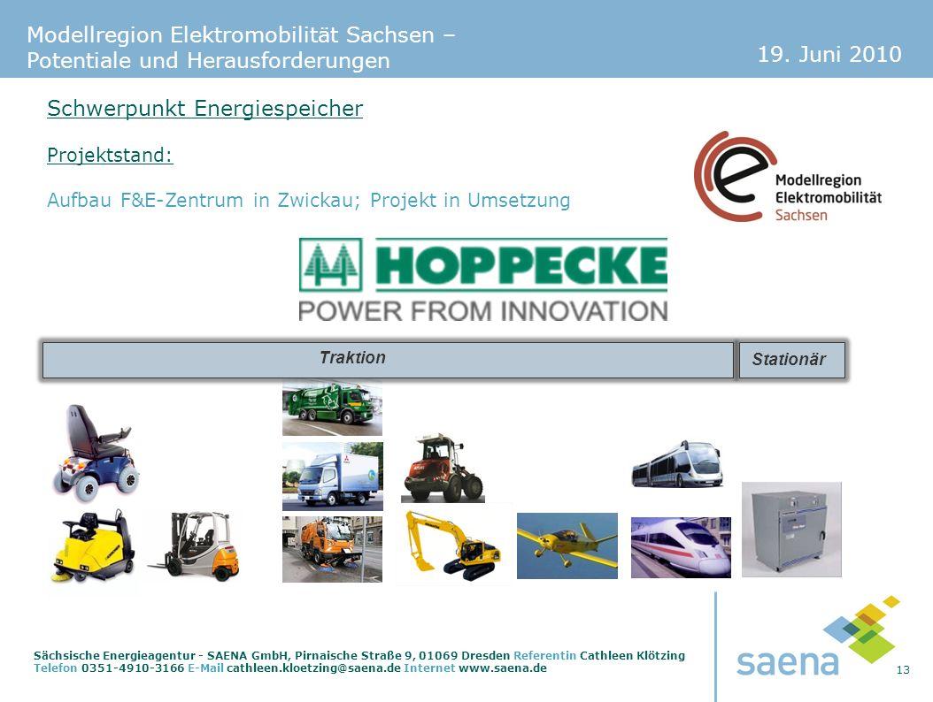 19. Juni 2010 13 Sächsische Energieagentur - SAENA GmbH, Pirnaische Straße 9, 01069 Dresden Referentin Cathleen Klötzing Telefon 0351-4910-3166 E-Mail