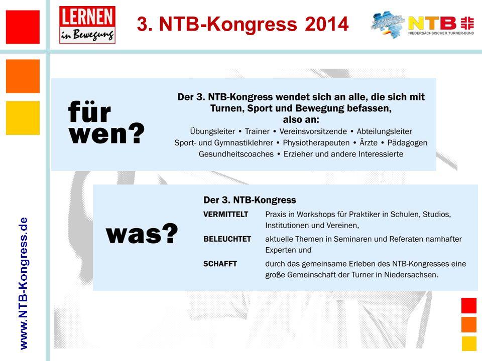www.NTB-Kongress.de 3.NTB-Kongress 2014 3. NTB-KONGRESS CongressPark Wolfsburg 28.-30.