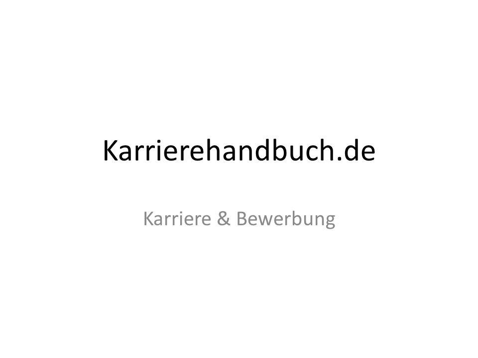 Karrierehandbuch.de Karriere & Bewerbung