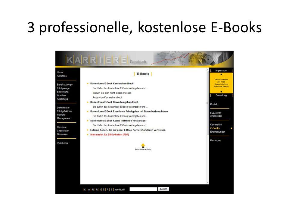 3 professionelle, kostenlose E-Books