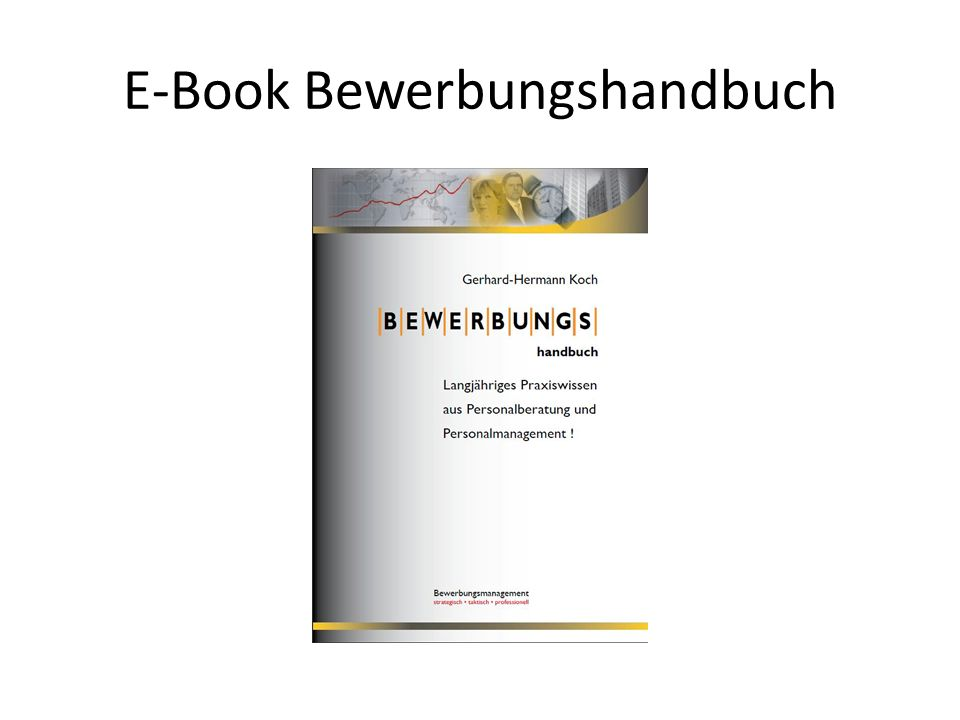 E-Book Bewerbungshandbuch