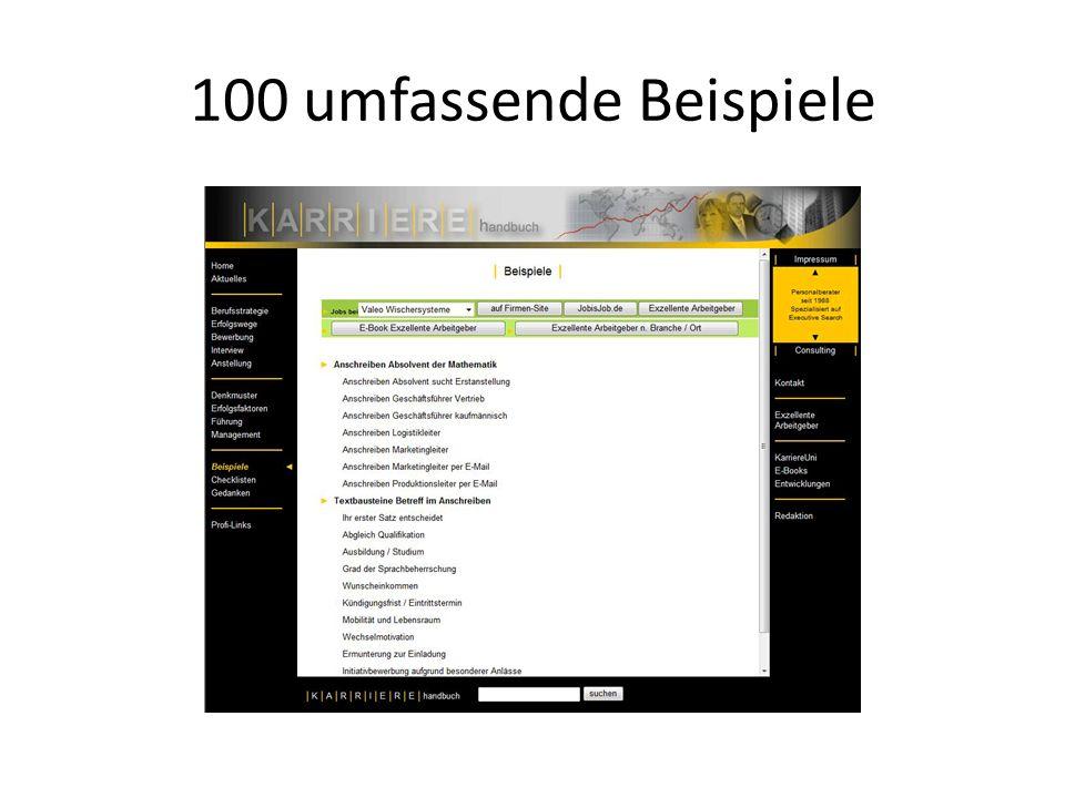 100 umfassende Checklisten