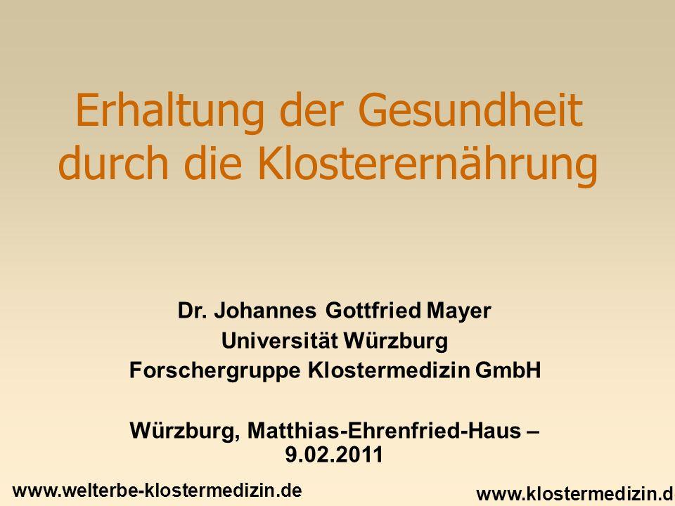 Was ist KIostermedizin.Klostermedizin – eine Epoche unserer Geschichte.
