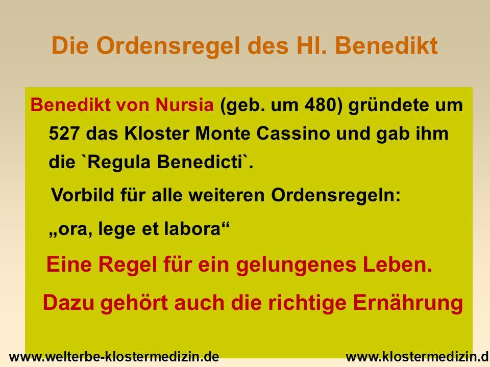 Vielen Dank für die Aufmerksamkeit! www.klostermedizin.de www.welterbe-klostermedizin.de