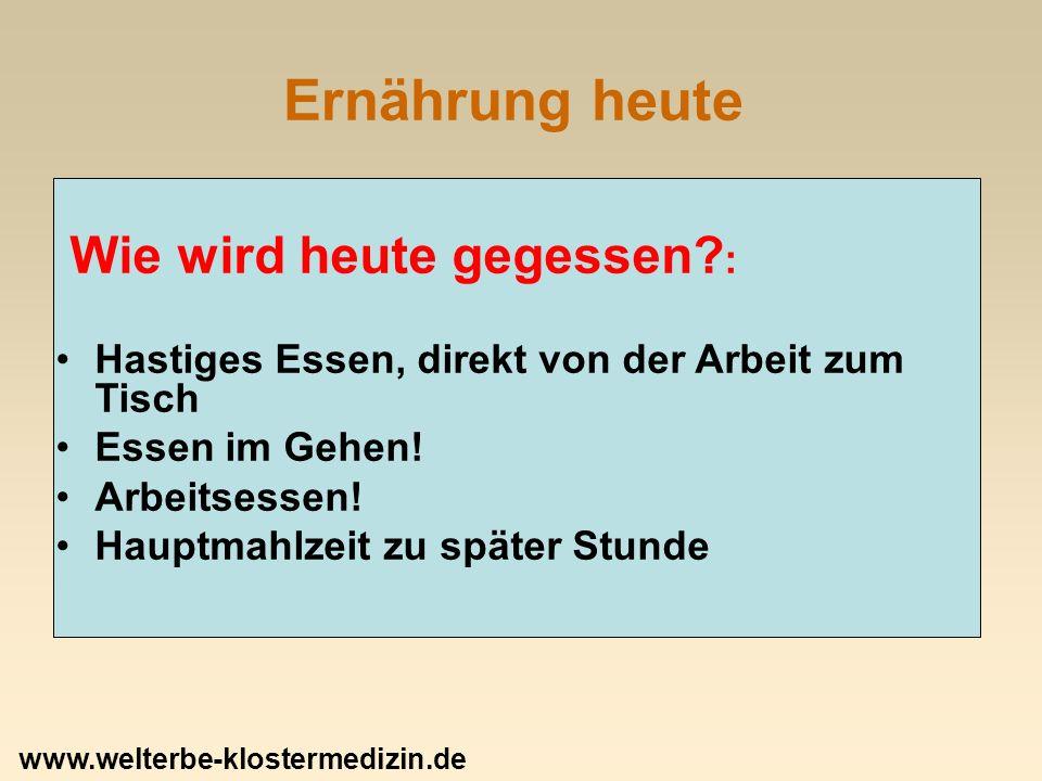 Der Klostertisch: Getreide Weizen: zweitältestes Getreide nach Gerste.