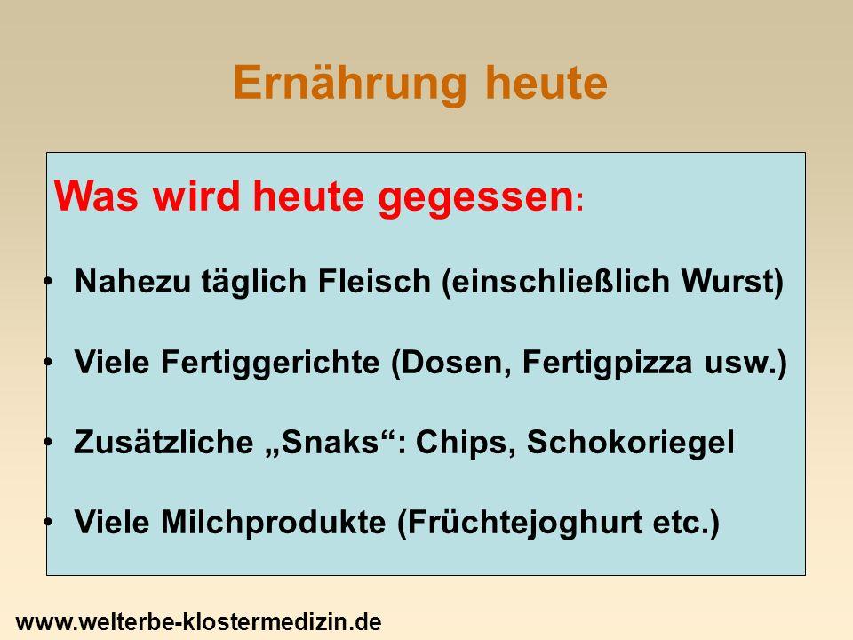 Der Klostertisch: Hülsenfrüchte Hülsenfrüchte: 2.Grundlage der Ernährung, z.T.