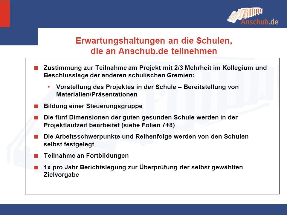 Zustimmung zur Teilnahme am Projekt mit 2/3 Mehrheit im Kollegium und Beschlusslage der anderen schulischen Gremien: Vorstellung des Projektes in der