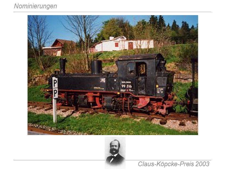 Claus-Köpcke-Preis 2003 Nominierungen