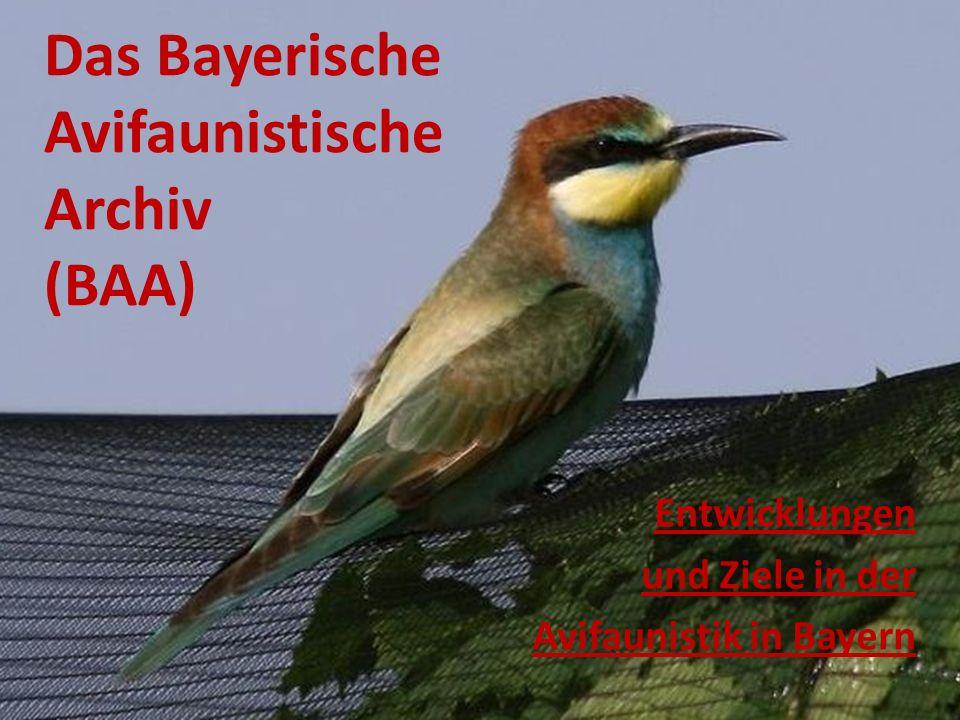 Das Bayerische Avifaunistische Archiv (BAA) Entwicklungen und Ziele in der Avifaunistik in Bayern