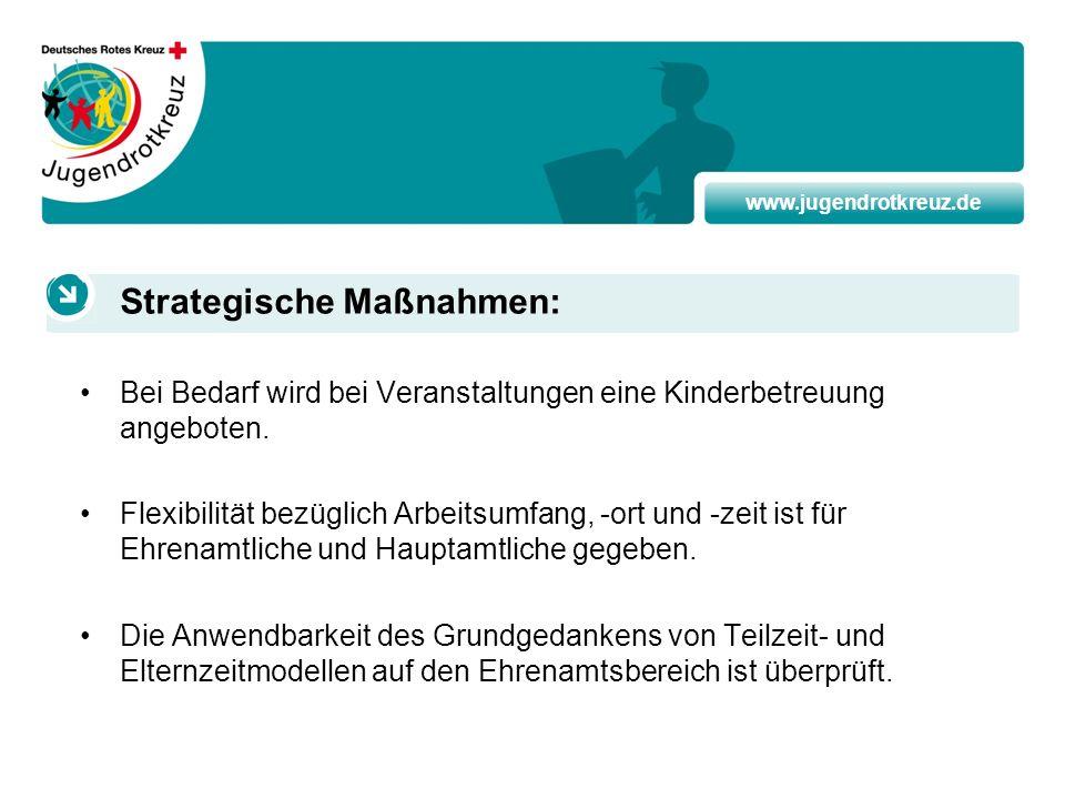www.jugendrotkreuz.de Bei Bedarf wird bei Veranstaltungen eine Kinderbetreuung angeboten. Flexibilität bezüglich Arbeitsumfang, -ort und -zeit ist für
