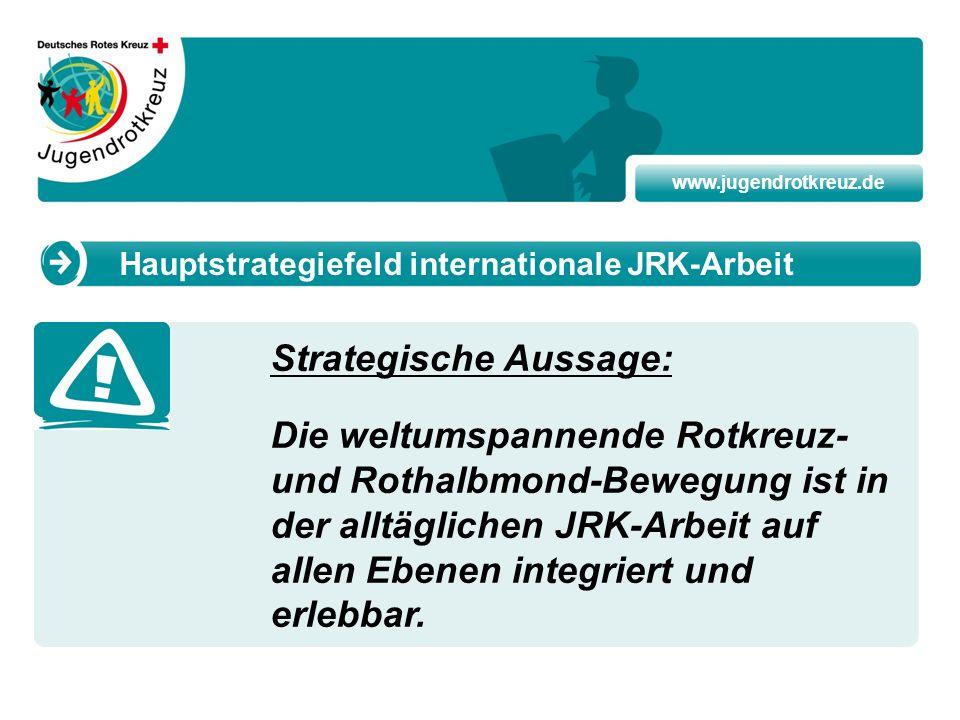 www.jugendrotkreuz.de Strategische Aussage: Die weltumspannende Rotkreuz- und Rothalbmond-Bewegung ist in der alltäglichen JRK-Arbeit auf allen Ebenen