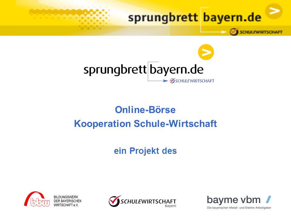 Online-Börse Kooperation Schule-Wirtschaft ein Projekt des