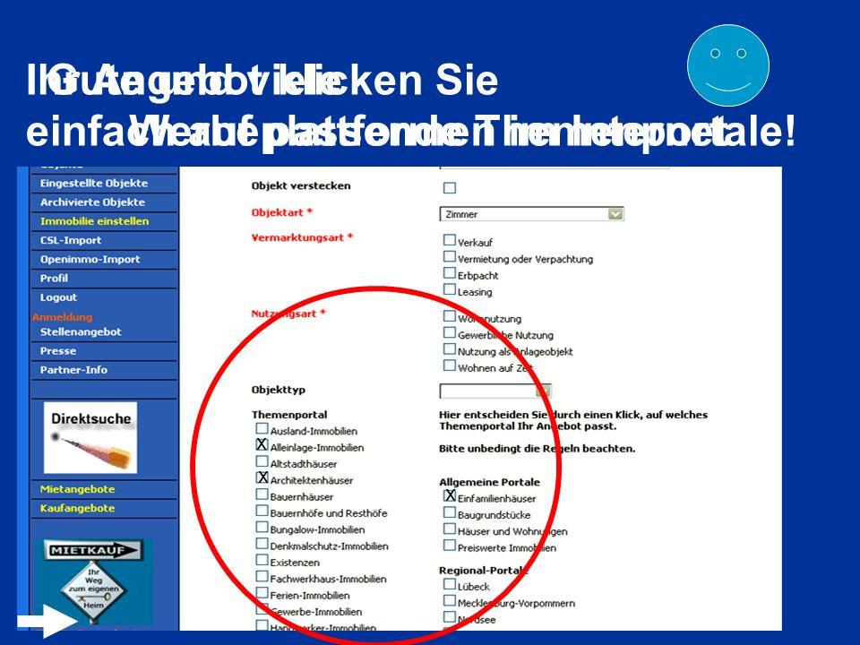 Gute und viele Werbeplattformen im Internet x x Ihr Angebot klicken Sie einfach auf passende Themenportale! x